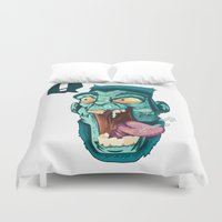 zombie Duvet Covers featuring Zombie. by Rachel Alderson