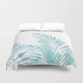 Palm Leaves Island Paradise Duvet Cover