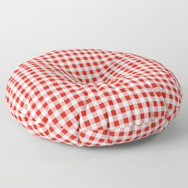 Christmas gingham pattern red and green cute gifts home decor for the holidays Floor Pillow