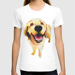 Good Boy / Yellow Labrador Retriever dog art T-shirt