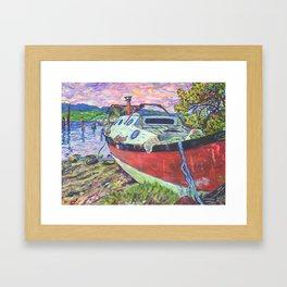 Claude's Boat Framed Art Print