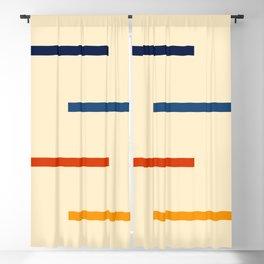 Abstract Minimal Retro Stripes Bikram Blackout Curtain