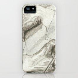 Drawing Hands, MC Escher iPhone Case