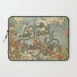 Book Traveler Vintage Map v3 Laptop Sleeve