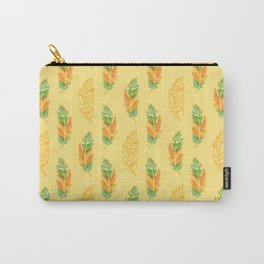 Feather pattern Carry-All Pouch