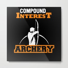 Archery Compound Bow Metal Print