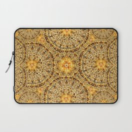 Golden Thread Mandala Laptop Sleeve