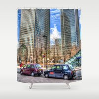 taxi driver Shower Curtains featuring Taxi !!! by David Pyatt