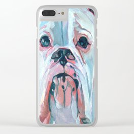 Otis the White Boxer Clear iPhone Case