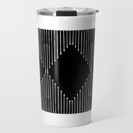 Geo / Black Travel Mug