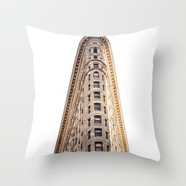 sir flatiron Throw Pillow
