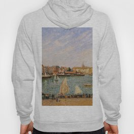Afternoon Sun The Inner Harbor Dieppe 1902 By Camille Pissarro | Reproduction | Impressionism Painte Hoody
