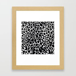 Animal Print Cheetah Black and White Pattern #4 Framed Art Print