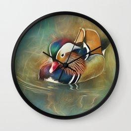 Mandarin Duck Wall Clock