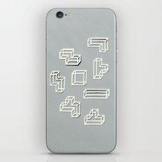 Tetris Papercut iPhone & iPod Skin