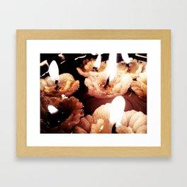 Floating candles Framed Art Print