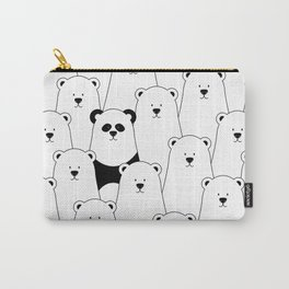 Polar bear and panda cartoon Carry-All Pouch