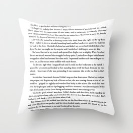 I Didn't Bother With Her Dress Throw Pillow