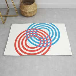 CIRLES RED BLUE 01 Rug