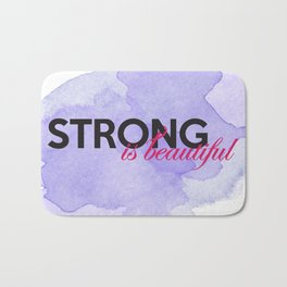 Strong is beautiful: breast cancer strong Bath Mat