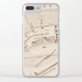 Vintage Map of St Augustine FL (1819) Clear iPhone Case