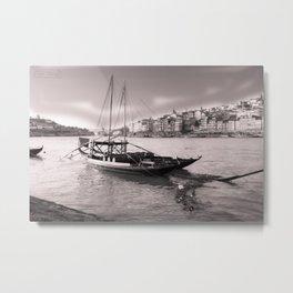 Sailboat on the Duero river, Porto Metal Print