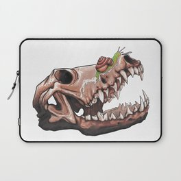 Coyote Skull Plus Snail Trail Laptop Sleeve