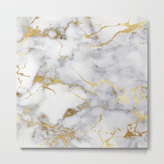 Italian gold marble Metal Print