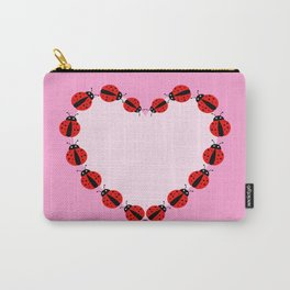 Lady Bug Heart Carry-All Pouch