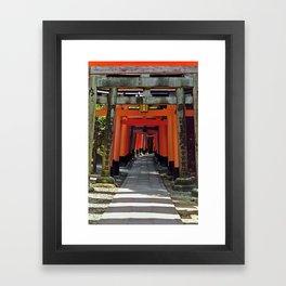 Torii gates - Kyoto, Japan Framed Art Print
