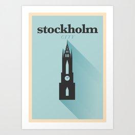 Minimal Stockholm Poster Art Print