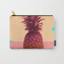 Pineapple Print - Tropical Decor - Botanical Print - Pineapple Wall Art - Pink, Peach - Minimal Carry-All Pouch