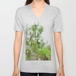 Where the sea sings to the trees - 2 Unisex V-Neck