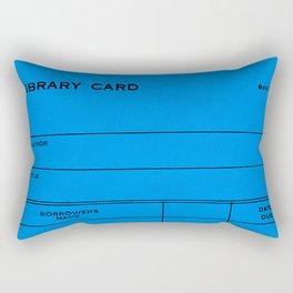 Library Card BSS 28 Blue Rectangular Pillow