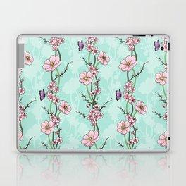 Japanese Garden - cherry blossom and anemones Laptop & iPad Skin