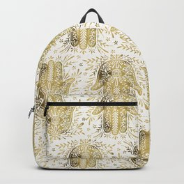Hamsa Hand Gold Palette Backpack