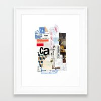 los angeles Framed Art Prints featuring Los Angeles by Emily Rickard