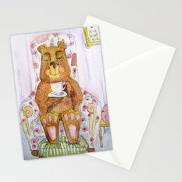 Hazel, tea time bear Stationery Cards