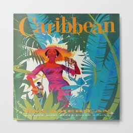 Vintage poster - Caribbean Metal Print