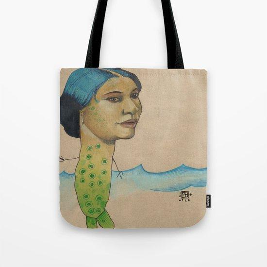 LONELY MERMAID Tote Bag