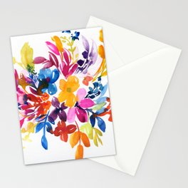 watercolor bouquet N.3 Stationery Cards