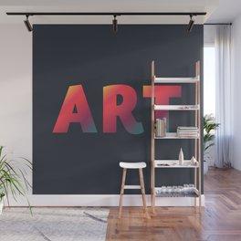 Art, minimalist typography, minimalist illustration, colorful, inspiring wall ar, inspirational word Wall Mural
