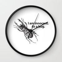 bug Wall Clocks featuring Bug by Dennis Spearman