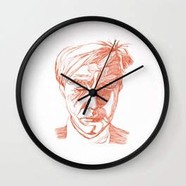Andy portrait (Red) Wall Clock