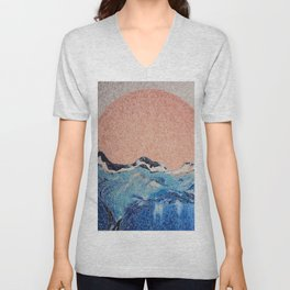 Sun of a Harvey - Storm Struggle Inspo - Acyrlic Painting Unisex V-Neck