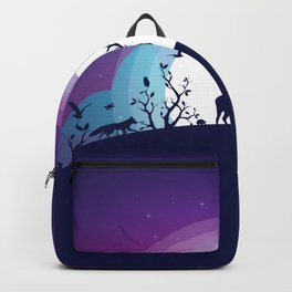 Forest Animals Gathering in the Moonlight Backpack