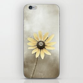 Minimal Flower Photography, Brown Beige Yellow Art, Modern Tan Floral Nature Photo iPhone Skin