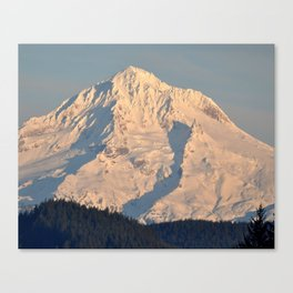 Twilight Over Mount Hood Canvas Print