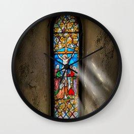 Ancient Glass Wall Clock