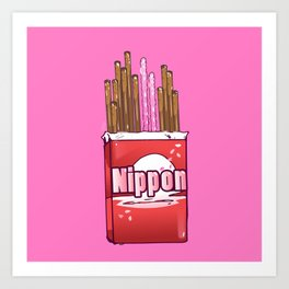 Pocky Lover - Junkies Collection Art Print